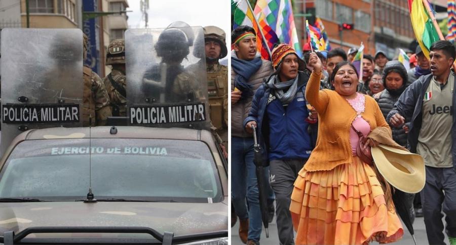 Evo Morales condena militarización de ciudades bolivianas