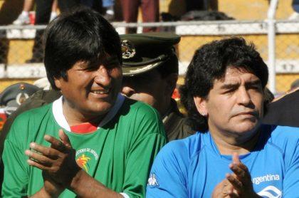 Evo Morales y Diego Maradona