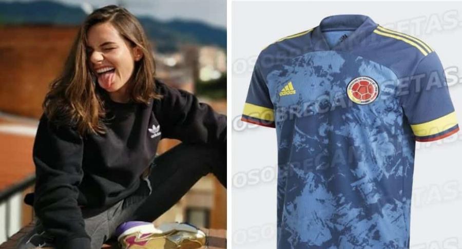 Sofía Gómez y camiseta de Colombia