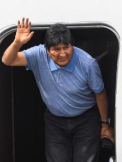 Guillermo Ochoa y Evo Morales