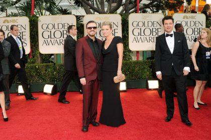 Rick Gervais y Jane Fallon