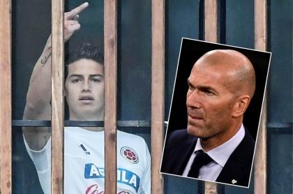James Rodríguez y Zinedine Zidane