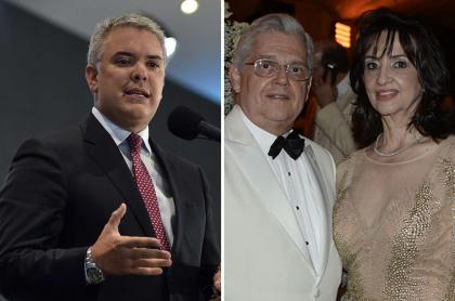 Iván Duque y Francisco José y Claudia Blum