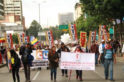 Marchas de sindicatos de trabajadores
