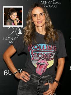 Vestido de esposa de Juanes con pronunciada abertura dejó babeando a Greeicy