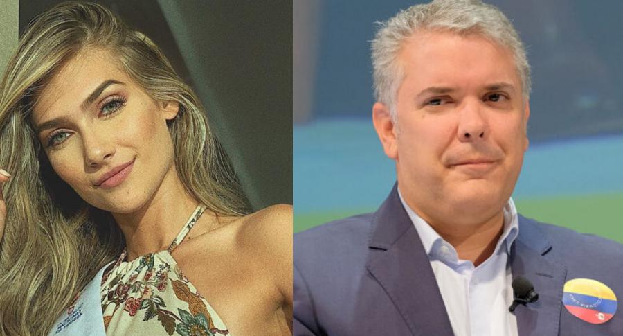Señorita Colombia e Iván Duque
