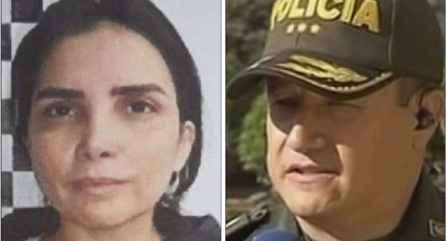 Aída Merlano y general William Ernesto Ruiz