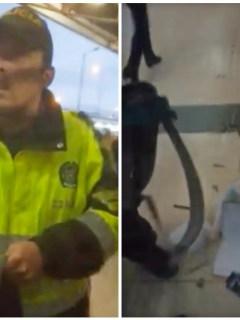 """""""Yo requiso así"""": policía, a ciudadano al que le tiró todas sus cosas al piso, en TM"""