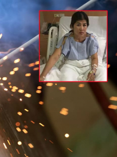 [Video] Mujer recibió descarga eléctrica de 22.000 voltios y vivió para contarlo