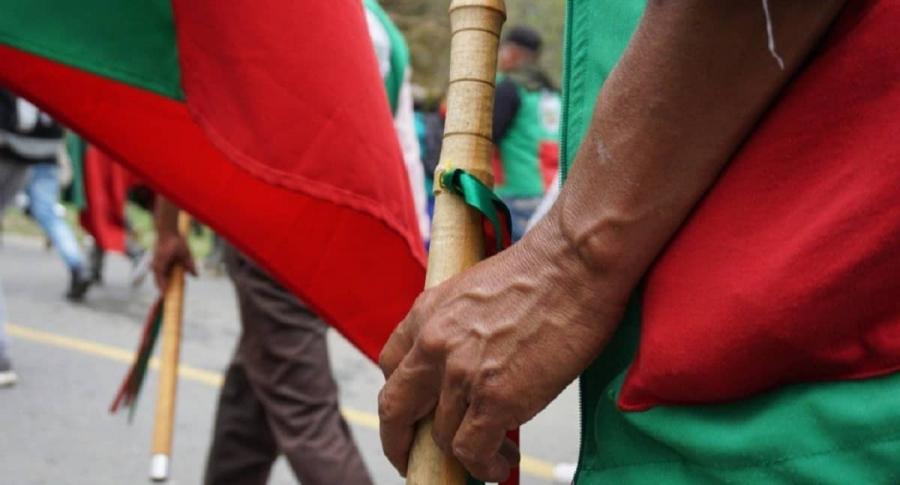 Bastón de indígena Kiwe Thegna