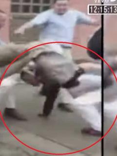 [Video] A patadas cogieron a presunto ladrón que agredió a mujer embarazada
