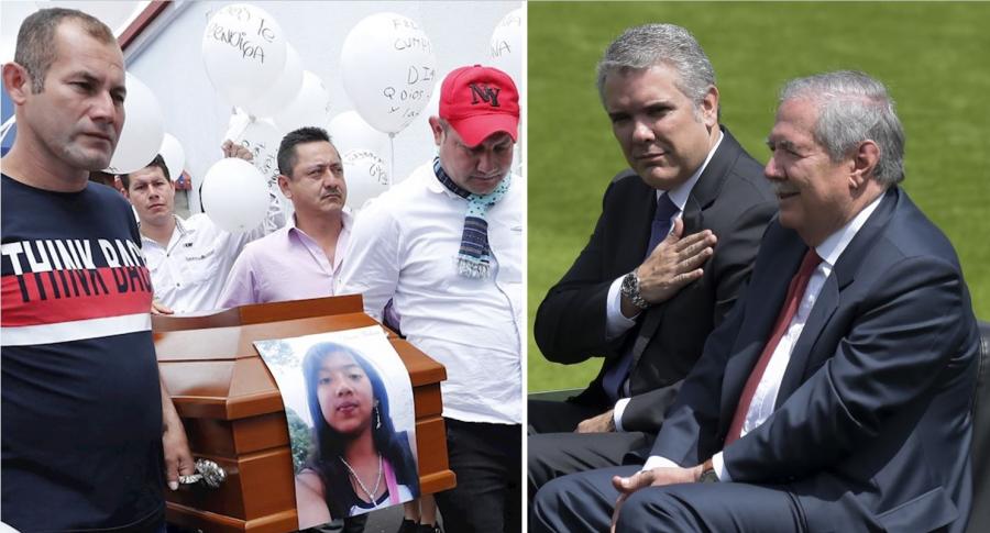 Sepelio de Diana Medina, Iván Duque y Guillermo Botero