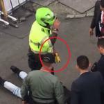 Procedimiento policial en Bogotá