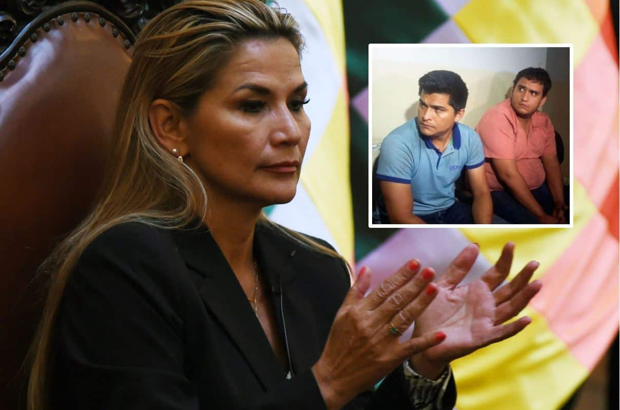 Jeanine Añez, Fabio Adhemar Andrade Lima Lobo y Carlos Andrés Añez Dorado