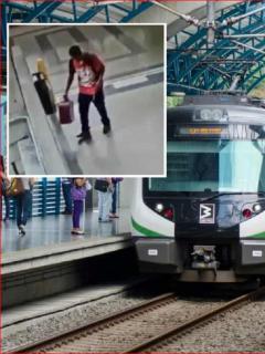 [Video] Sorpresa que se llevó Policía al abrir maleta abandonada en Metro de Medellín