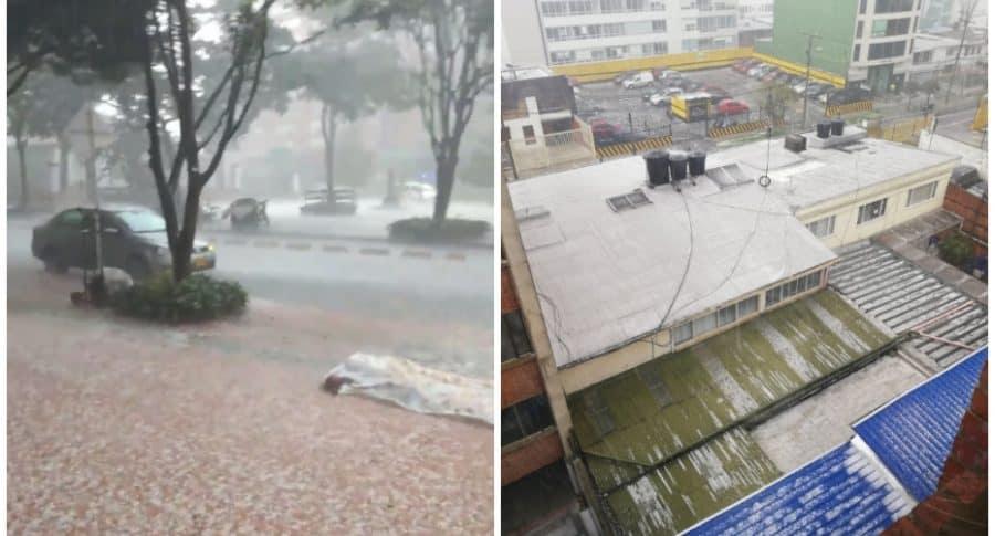 Fotos de lluvia en Bogotá.