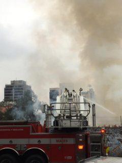 Muere niña en incendio que se registró en el centro de Bogotá