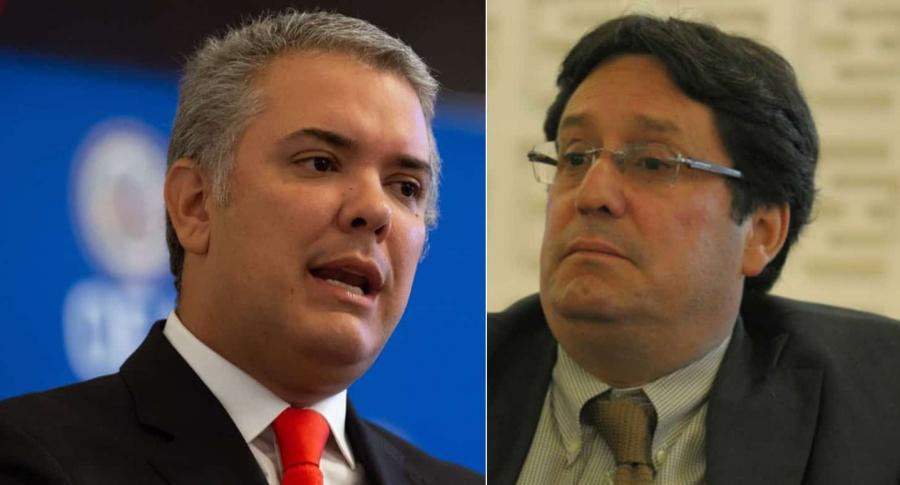 Duque y Pacho Santos