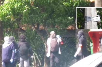 Encapuchados en U. de Antioquia