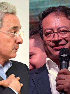 Álvaro Uribe y Gustavo Petro