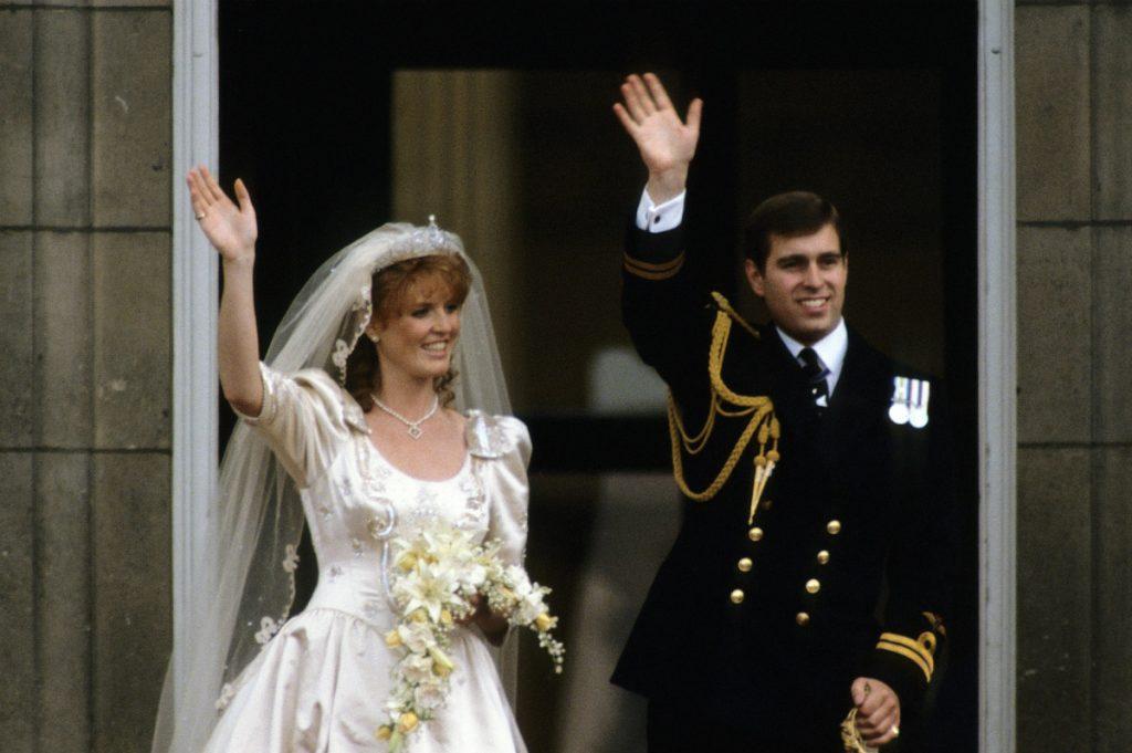 Sara Ferguson y el príncipe Andrés