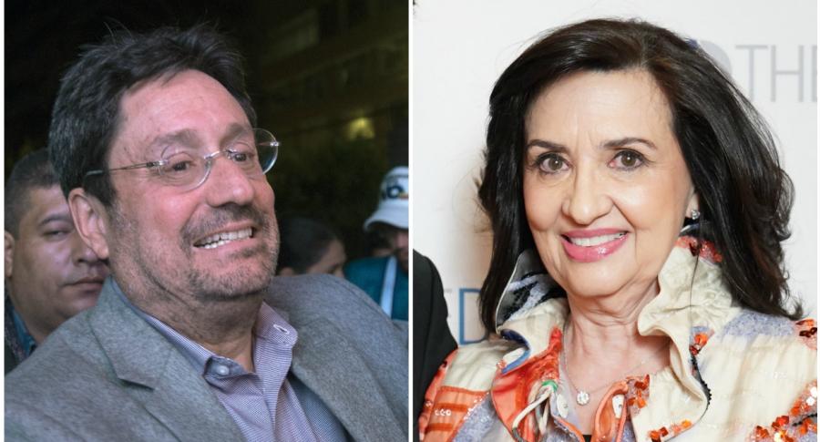 'Pacho' Santos y Claudia Blum