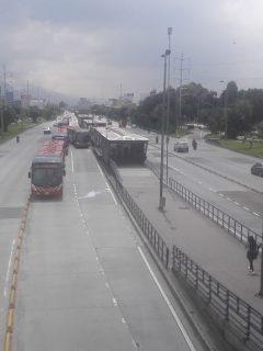 [Fotos y videos] No hay buses de TM en Autonorte; otra troncal que se queda sin transporte