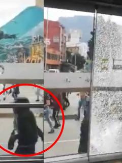[Video] Vándalos rompen con martillos las puertas de estaciones de TM, en medio de paro