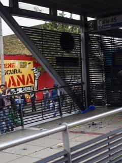 Las estaciones de Transmilenio que han sido vandalizadas durante el paro nacional