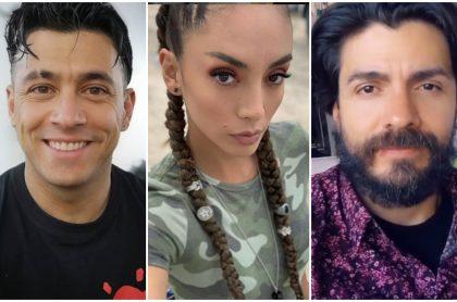 Santiago Alarcón, Carolina Guerra y Jimmy Vásquez