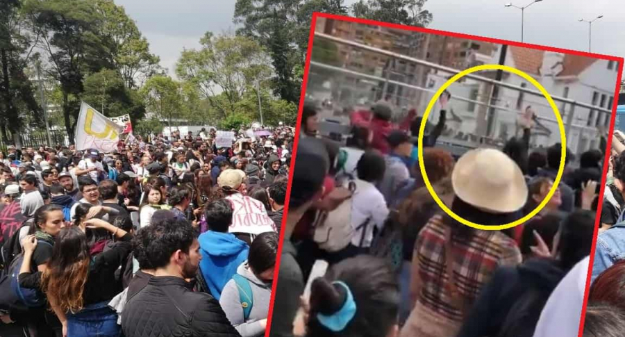 Manifestación en Bogotá