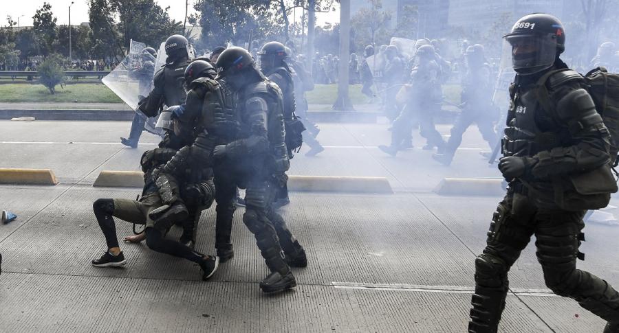 Esmad contra paro nacional en Bogotá