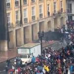 Disturbios en la Plaza de Bolívar