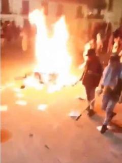 [Videos] Facatativá también pasa la noche en medio de llamas, temor y disturbios