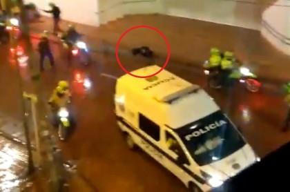 Mujer apaleada en centro de Bogotá