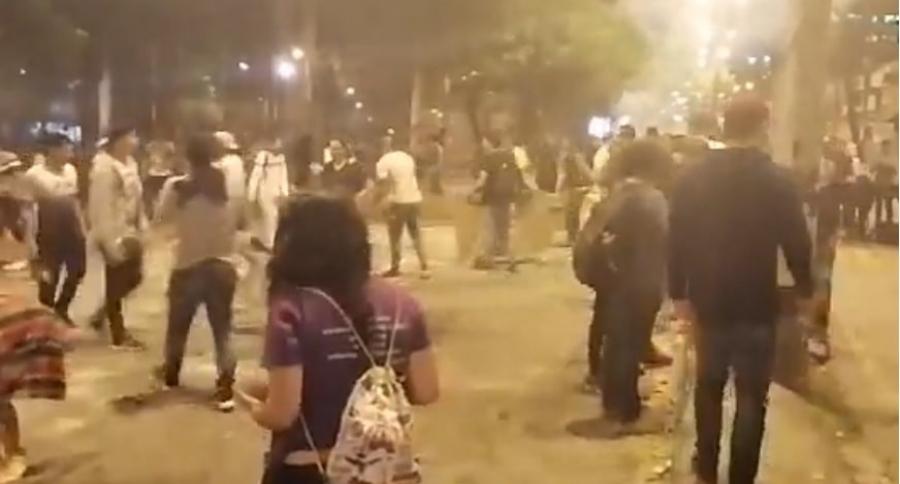 Disturbios Universidad de Antioquia el 21 de noviembre