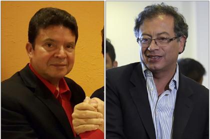 Julio Roberto Gómez y Gustavo Petro
