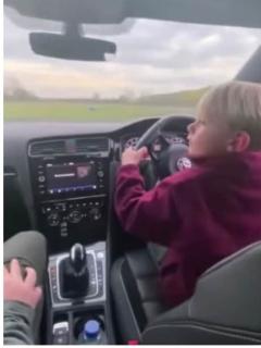 [Video] Insensato hombre dejó conducir a niño de 6 años, incluso a más de 96 km/h