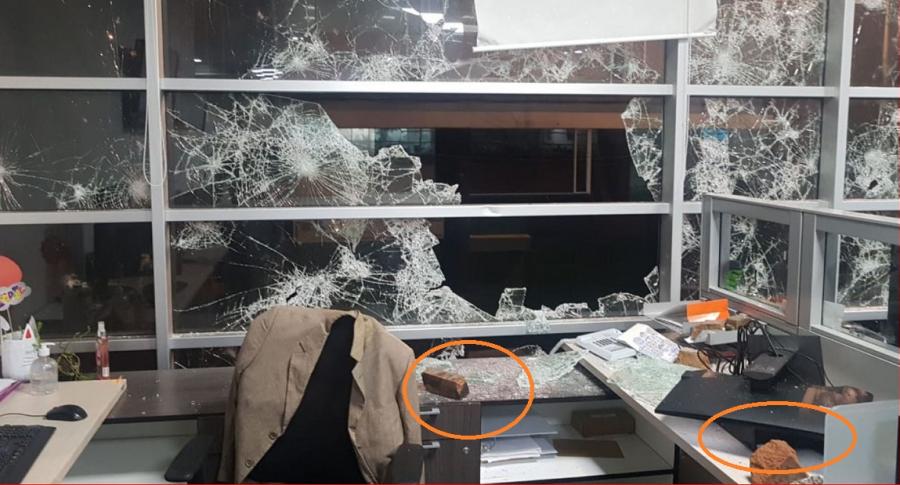 Ataque a Alcaldía de Bogotá