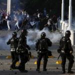 Enfrentamientos entre Esmad y estudiantes.