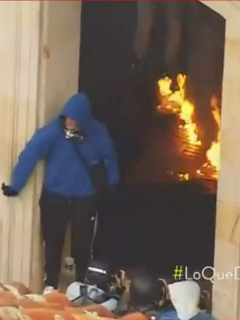 Graban a hombre que habría dirigido ataque de encapuchados contra Alcaldía de Bogotá