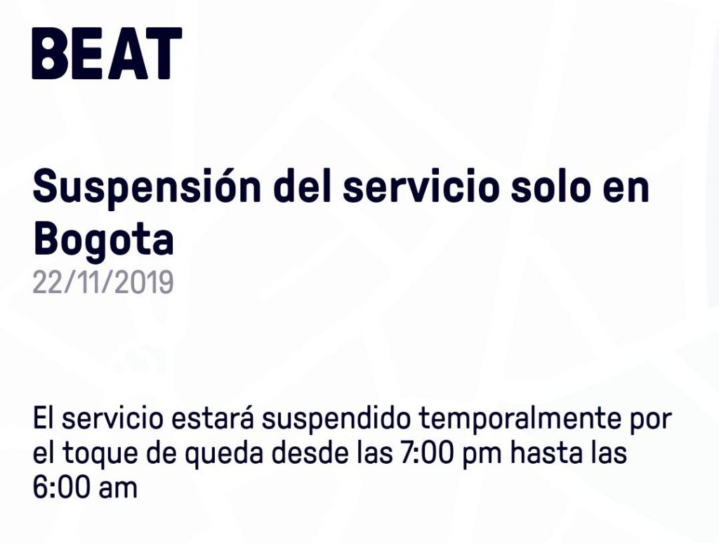 Notificación de Beat