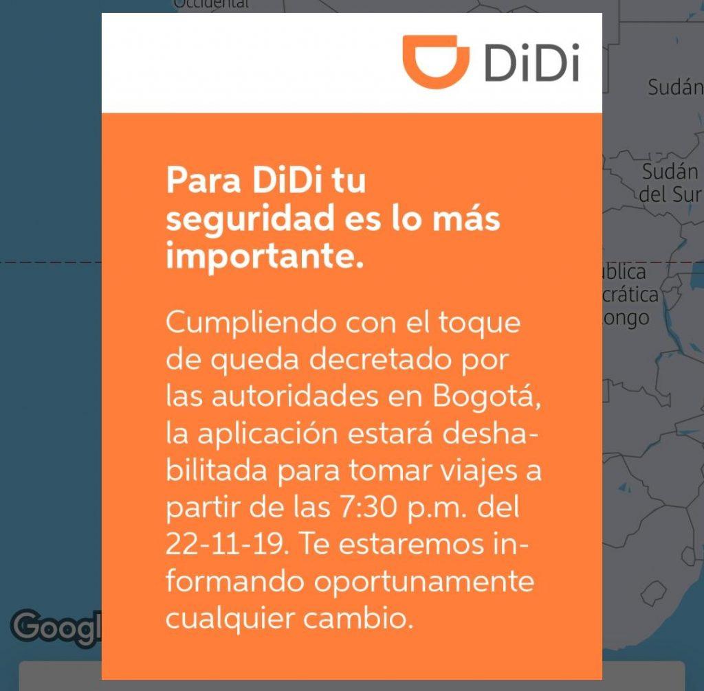 Notificación de Didi