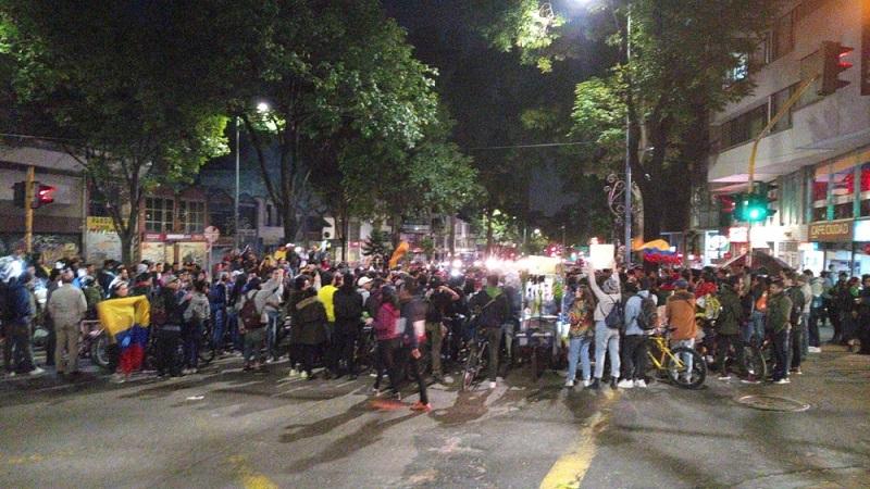Manifestaciones en Bogotá.