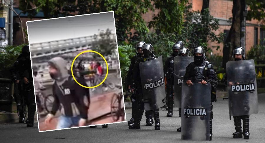 Patada que dio agente de Esmad a manifestante