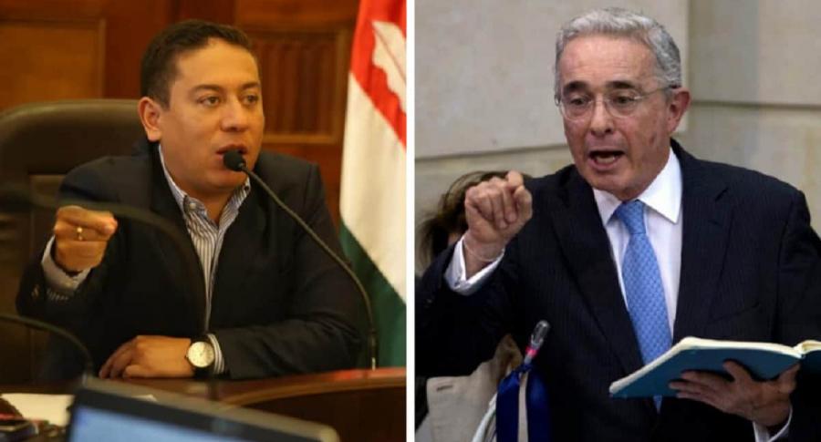 Carlos Amaya, gobernador de Boyacá / Álvaro Uribe