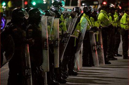 Policías heridos en el paro