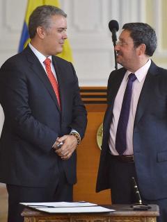 Iván Duque y Francisco Santos