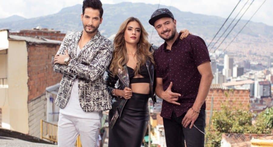 Carlos Torres, Carolina Ramírez y Andrés Sandoval, 'La reina del flow'
