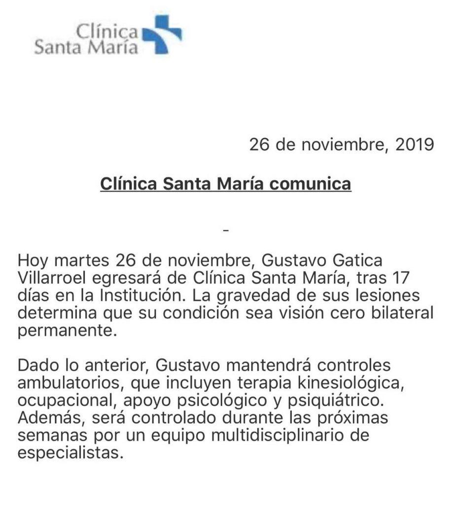 Comunicado Clínica Santa María